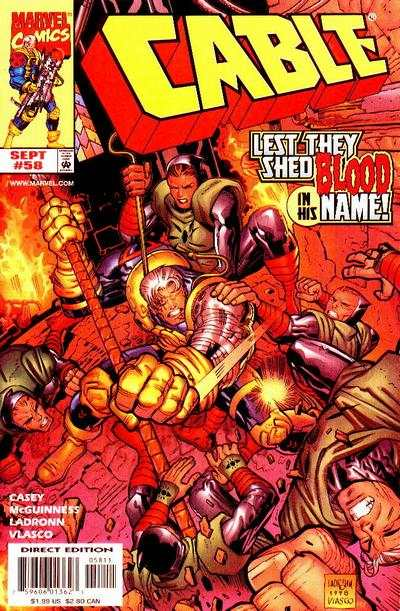 Cable #58 comic books - cover scans photos Cable #58 comic books - covers, picture gallery