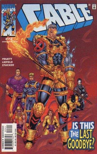 Cable #73 comic books - cover scans photos Cable #73 comic books - covers, picture gallery