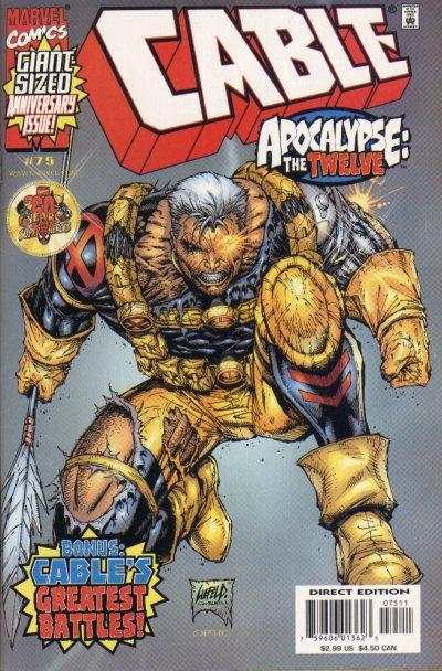 Cable #75 comic books - cover scans photos Cable #75 comic books - covers, picture gallery