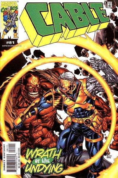 Cable #81 comic books - cover scans photos Cable #81 comic books - covers, picture gallery