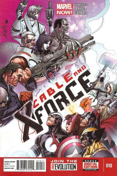 Cable and X-Force #10 comic books - cover scans photos Cable and X-Force #10 comic books - covers, picture gallery