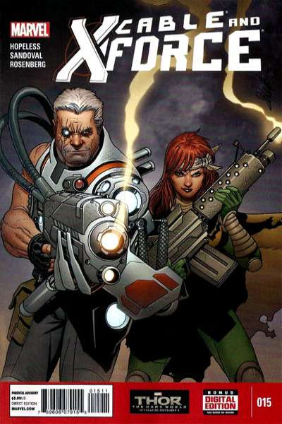 Cable and X-Force #15 comic books - cover scans photos Cable and X-Force #15 comic books - covers, picture gallery