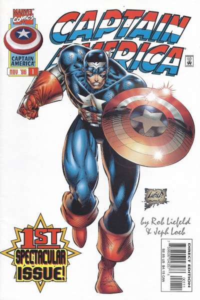 Captain America #1 Comic Books - Covers, Scans, Photos  in Captain America Comic Books - Covers, Scans, Gallery