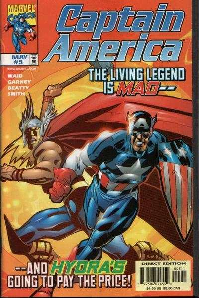 Captain America #5 comic books - cover scans photos Captain America #5 comic books - covers, picture gallery