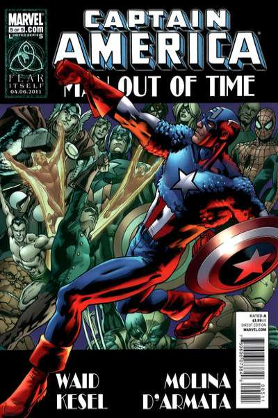 Captain America: Man Out of Time #5 comic books - cover scans photos Captain America: Man Out of Time #5 comic books - covers, picture gallery