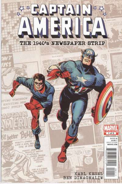 Captain America: The 1940's Newspaper Strip #1 Comic Books - Covers, Scans, Photos  in Captain America: The 1940's Newspaper Strip Comic Books - Covers, Scans, Gallery