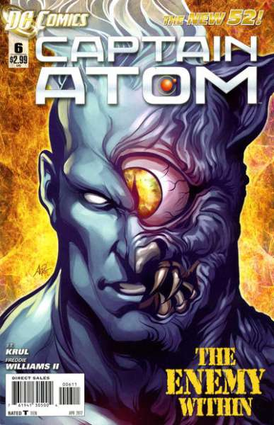 Captain Atom #6 comic books - cover scans photos Captain Atom #6 comic books - covers, picture gallery
