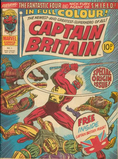 Captain Britain Comic Books. Captain Britain Comics.