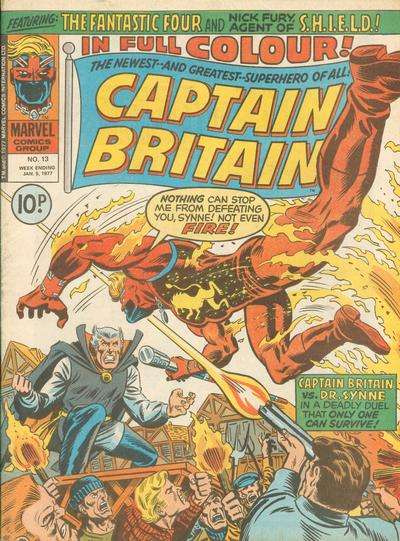 Captain Britain #13 Comic Books - Covers, Scans, Photos  in Captain Britain Comic Books - Covers, Scans, Gallery