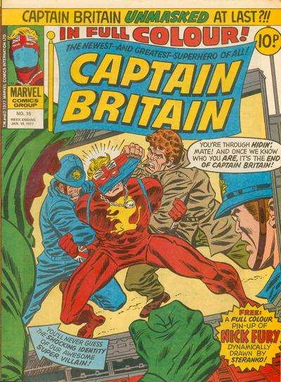 Captain Britain #15 Comic Books - Covers, Scans, Photos  in Captain Britain Comic Books - Covers, Scans, Gallery