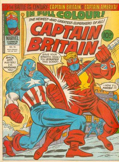 Captain Britain #16 Comic Books - Covers, Scans, Photos  in Captain Britain Comic Books - Covers, Scans, Gallery