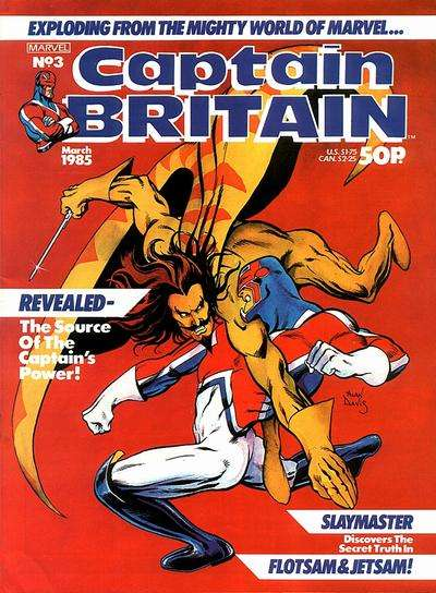 Captain Britain #3 Comic Books - Covers, Scans, Photos  in Captain Britain Comic Books - Covers, Scans, Gallery