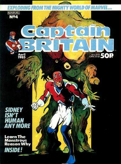 Captain Britain #4 Comic Books - Covers, Scans, Photos  in Captain Britain Comic Books - Covers, Scans, Gallery