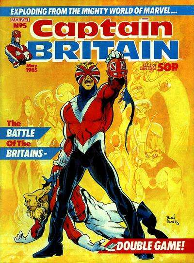 Captain Britain #5 Comic Books - Covers, Scans, Photos  in Captain Britain Comic Books - Covers, Scans, Gallery