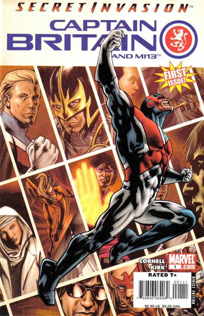 Captain Britain and MI13 comic books