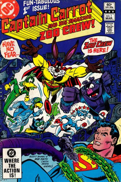 Captain Carrot and His Amazing Zoo Crew comic books