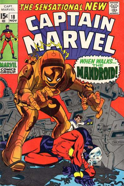 Captain Marvel #18 Comic Books - Covers, Scans, Photos  in Captain Marvel Comic Books - Covers, Scans, Gallery