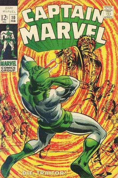 Captain Marvel #10 Comic Books - Covers, Scans, Photos  in Captain Marvel Comic Books - Covers, Scans, Gallery