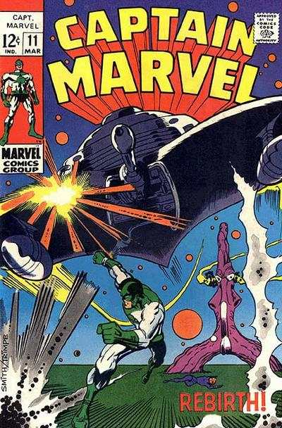 Captain Marvel #11 comic books - cover scans photos Captain Marvel #11 comic books - covers, picture gallery