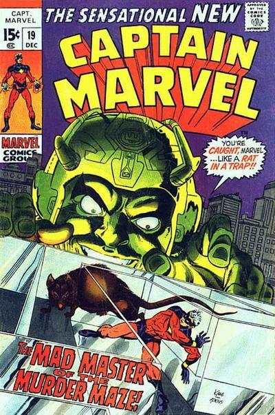 Captain Marvel #19 comic books - cover scans photos Captain Marvel #19 comic books - covers, picture gallery