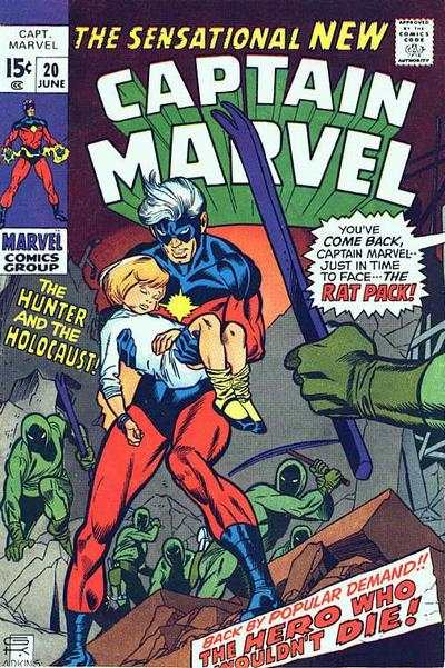 Captain Marvel #20 comic books - cover scans photos Captain Marvel #20 comic books - covers, picture gallery