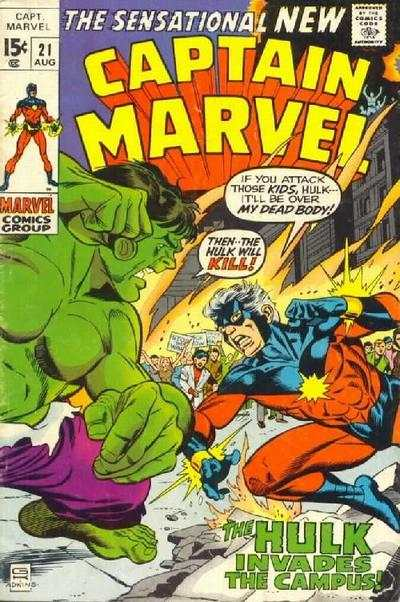 Captain Marvel #21 comic books - cover scans photos Captain Marvel #21 comic books - covers, picture gallery
