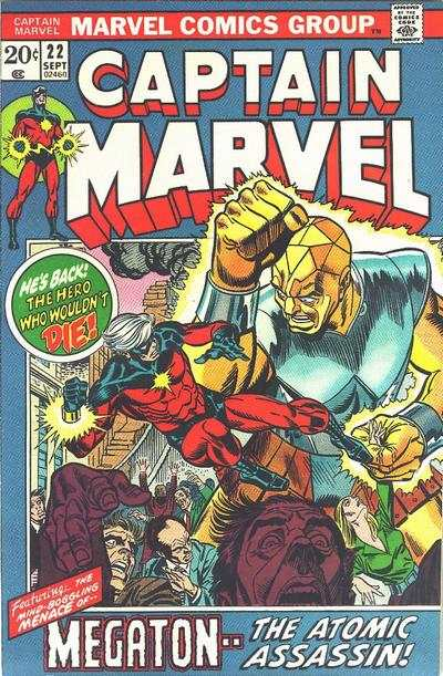 Captain Marvel #22 comic books - cover scans photos Captain Marvel #22 comic books - covers, picture gallery