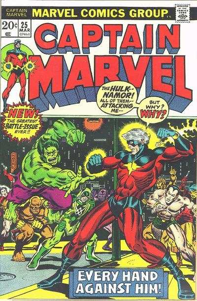 Captain Marvel #25 comic books - cover scans photos Captain Marvel #25 comic books - covers, picture gallery