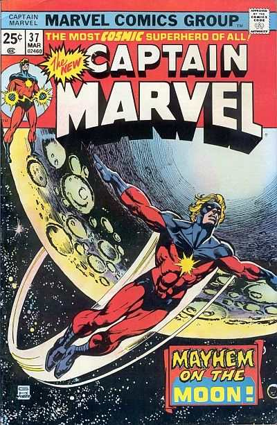 Captain Marvel #37 comic books - cover scans photos Captain Marvel #37 comic books - covers, picture gallery