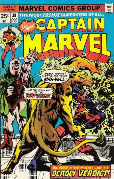 Captain Marvel #39 Comic Books - Covers, Scans, Photos  in Captain Marvel Comic Books - Covers, Scans, Gallery