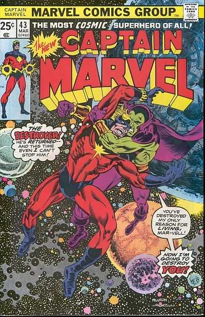 Captain Marvel #43 Comic Books - Covers, Scans, Photos  in Captain Marvel Comic Books - Covers, Scans, Gallery