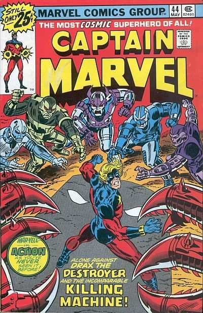 Captain Marvel #44 Comic Books - Covers, Scans, Photos  in Captain Marvel Comic Books - Covers, Scans, Gallery