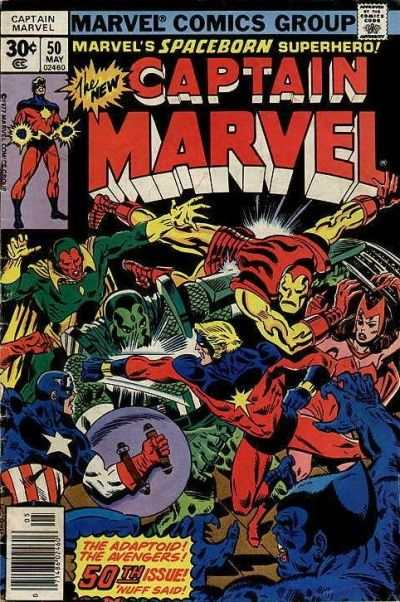 Captain Marvel #50 Comic Books - Covers, Scans, Photos  in Captain Marvel Comic Books - Covers, Scans, Gallery