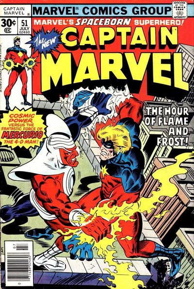 Captain Marvel #51 Comic Books - Covers, Scans, Photos  in Captain Marvel Comic Books - Covers, Scans, Gallery