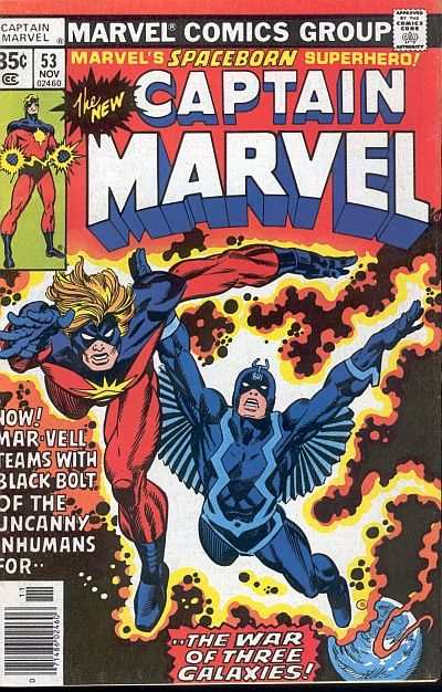 Captain Marvel #53 comic books - cover scans photos Captain Marvel #53 comic books - covers, picture gallery