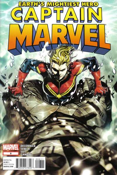 Captain Marvel #8 comic books - cover scans photos Captain Marvel #8 comic books - covers, picture gallery