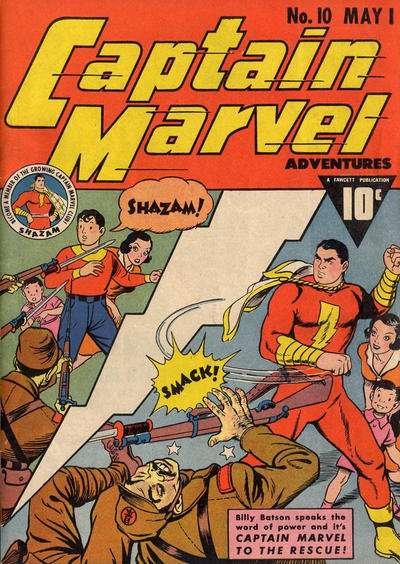 Captain Marvel Adventures #10 comic books - cover scans photos Captain Marvel Adventures #10 comic books - covers, picture gallery