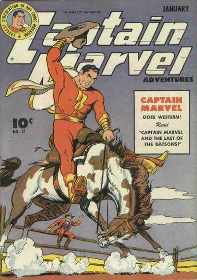 Captain Marvel Adventures #51 comic books - cover scans photos Captain Marvel Adventures #51 comic books - covers, picture gallery