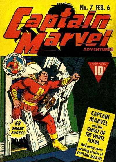 Captain Marvel Adventures #7 comic books - cover scans photos Captain Marvel Adventures #7 comic books - covers, picture gallery