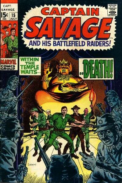 Captain Savage and His Leatherneck Raiders #15 Comic Books - Covers, Scans, Photos  in Captain Savage and His Leatherneck Raiders Comic Books - Covers, Scans, Gallery