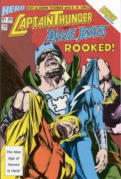 Captain Thunder and Blue Bolt #10 comic books for sale
