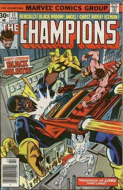 Champions #11 comic books - cover scans photos Champions #11 comic books - covers, picture gallery