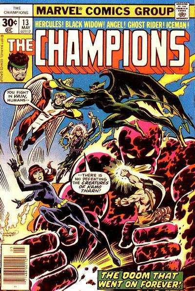Champions #13 comic books - cover scans photos Champions #13 comic books - covers, picture gallery
