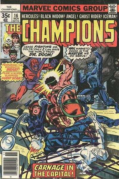 Champions #16 comic books - cover scans photos Champions #16 comic books - covers, picture gallery