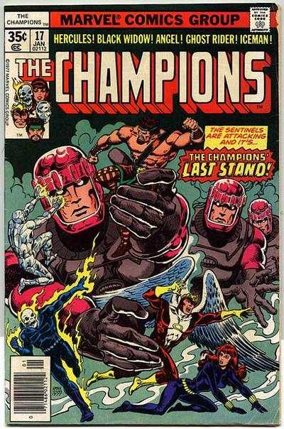 Champions #17 comic books - cover scans photos Champions #17 comic books - covers, picture gallery