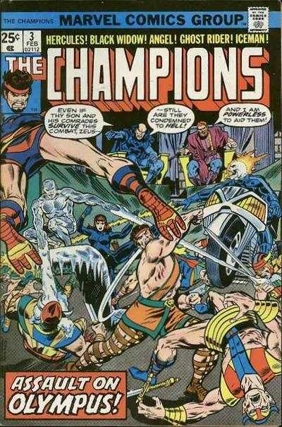 Champions #3 comic books - cover scans photos Champions #3 comic books - covers, picture gallery