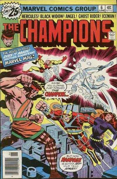Champions #6 comic books - cover scans photos Champions #6 comic books - covers, picture gallery