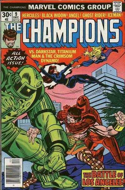 Champions #9 comic books - cover scans photos Champions #9 comic books - covers, picture gallery
