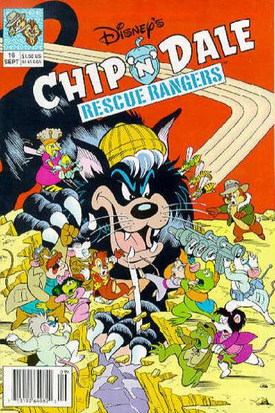 Chip 'n Dale Rescue Rangers #16 Comic Books - Covers, Scans, Photos  in Chip 'n Dale Rescue Rangers Comic Books - Covers, Scans, Gallery