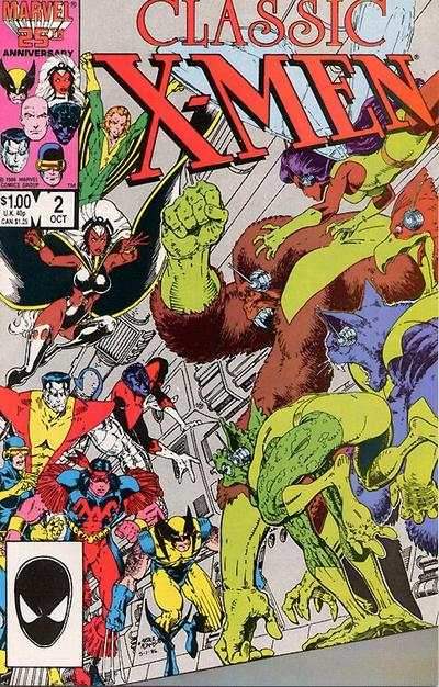 Classic X-Men #2 comic books - cover scans photos Classic X-Men #2 comic books - covers, picture gallery